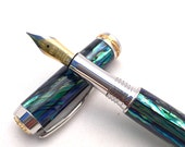 Pen - Abalone Pen ** Fountain Pen **  Anniversary Gift ** Gift for Husband ** Gifts for Mom ** Gifts for Wife * Birthday Present