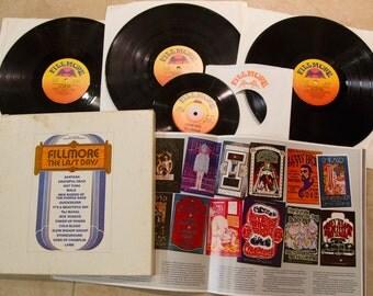 "Fillmore Bill Graham Vinyl 3LP Set 1970s Classic Rock 1960s Rock ""Fillmore: The Last"