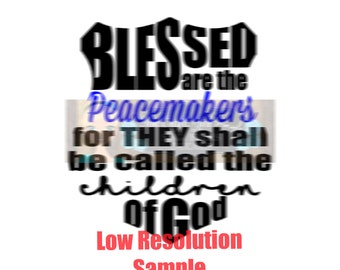 Blessed are Peacemakers Svg Dxf   Commercial Use SVG Car decal   tshirt svg   Police Badge svg   Blue Lives Matter   Back the Blue svg