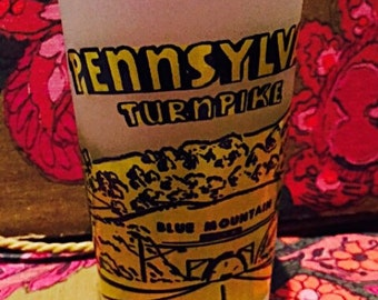 Pennsylvania Turnpike Blue Mountain Vintage Glass