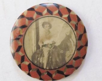 Vintage Cowboy Photo Pocket Mirror
