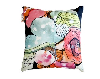 Organic Flowers cushion cover