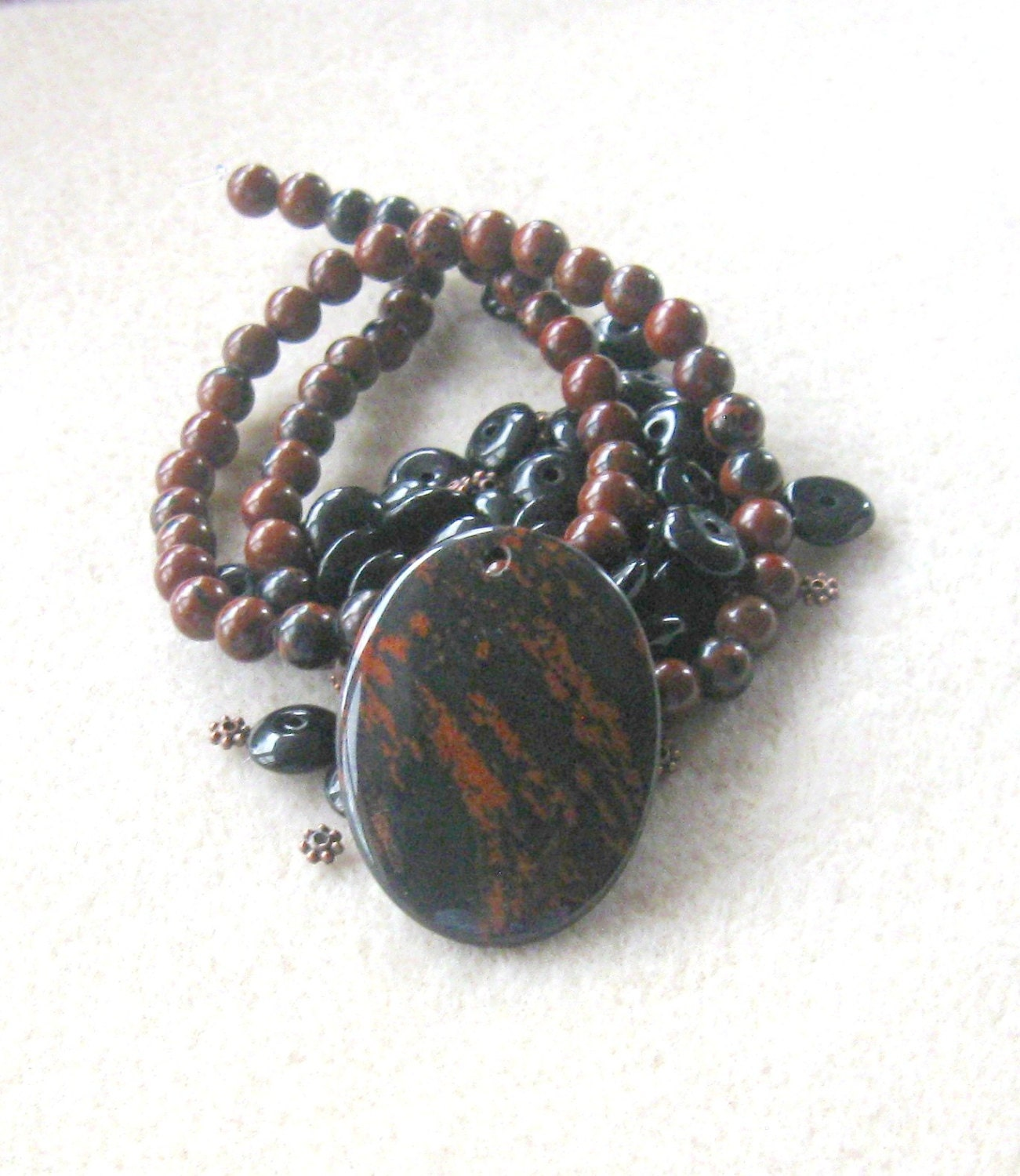 Mahogany obsidian black glass copper findings craft for Craft and jewelry supplies