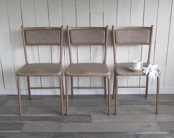 Set of 3 Mid Century Cosco Gatefold Folding Chairs
