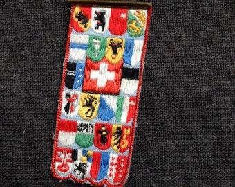Swiss flag rescue red cross brooch.