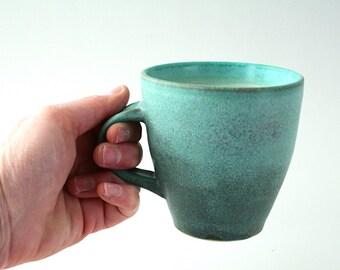 Teal green blue large mug