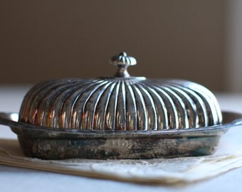 Silverplated Butter dish