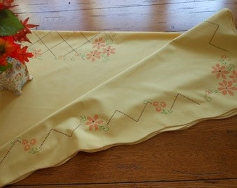 Vintage Faux Cross Stitch Tablecloth