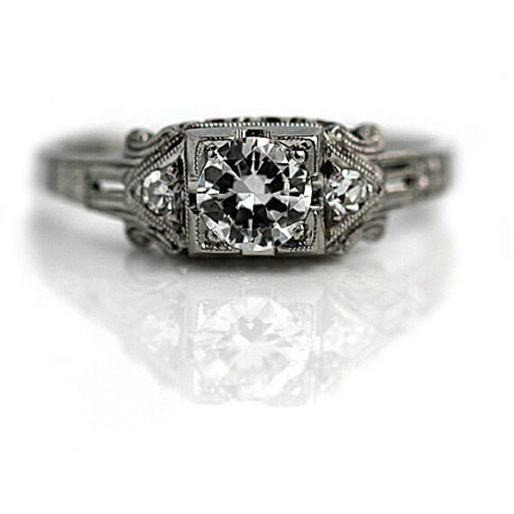 vintage engagement ring 0 29ctw dainty wedding