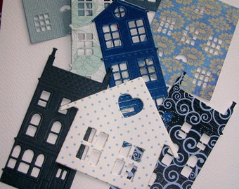 Mini House & New Home Sentiment Diecuts: Scrapbooking. Journalling, Daily Planners, Cardmaking