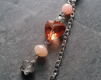 Princess (in orange) - SINGLE Ear Cuff silver plated / no piercing required