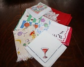 Napkin Lot 12 Vintage Napkins Mix and Match
