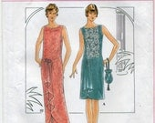 Retro 1920's Flapper Dress and Purse Sewing Pattern - Simplicity 8776 - Sizes 12-14-16 - UNCUT