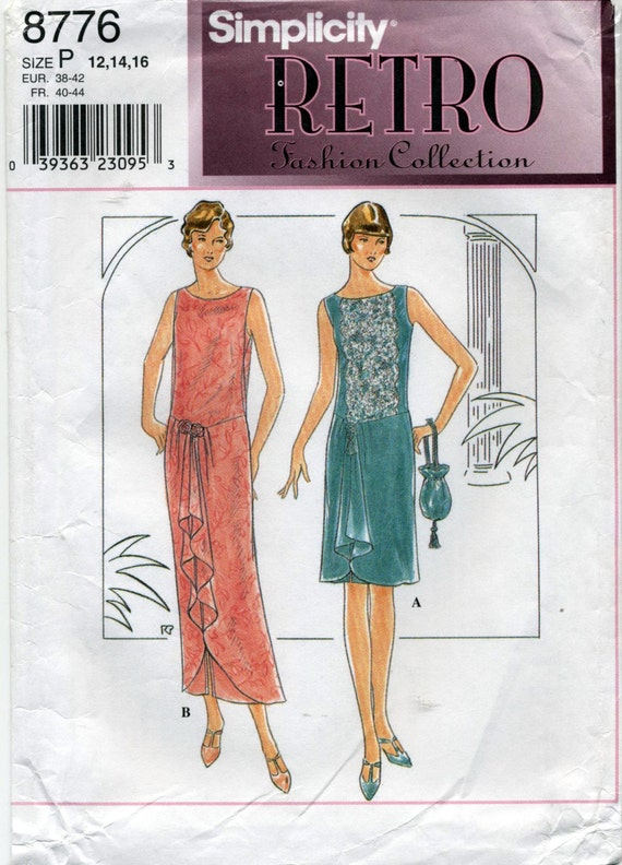 Retro 1920's Flapper Dress and Purse Sewing Pattern