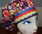 Calaveras Del Mar  Banded Bouffant Surgical Cap by Nurseheadwear Bakers Cap