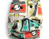 One Size Fitted Hybrid Cloth Diaper Cameras with OCV Lining inside