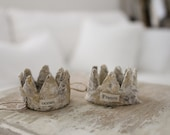 2 CARTAPESTA CRowns, French paper mache, bricolage, Ocean France crowns, Jeanne d arc Style