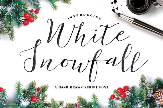 Calligraphy Font, Modern Calligraphy, Digital Fonts, Wedding Font, Invitation Font, Script Font, Digital Download, White Snowfall