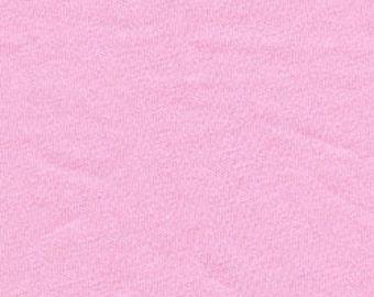 Light Pink 4 Way Stretch 9oz Cotton Lycra Jersey Knit Fabric, 1 Yard