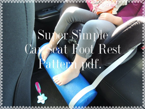 Pattern Kids Car Seat Foot Rest Protects Little Legs From
