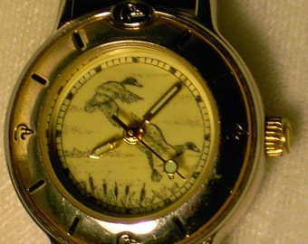Wristwatch Ducks Unlimited DU Vintage 1990s Ladies Limited Edition Leather Band