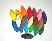 15 colored Paper Beads made of corrugated cardboard