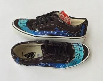 Music Notes Custom Vans Shoes