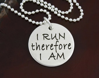 I Run Therefore I Am - Sterling Silver Runner Jewelry
