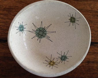Franciscan Starburst Atomic Bowls 6 Cereal Fruit Desert Salad 1950's Mid Century Modern Mad Men RARE!