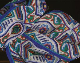 Bright Silk Scarf by Oscar designer