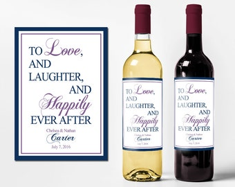 Custom Wine Bottle Labels Personalized Wedding Favors Waterproof Printed Wine Labels Wine Labels Personalized Wine Bottle Stickers WB-1025