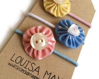 Collection of Three Pastel Mini Hair Ties/Hair Elastics