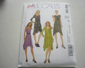 Pattern Ladies Dress 4 Styles Sizes 6 to 14 McCalls 6199