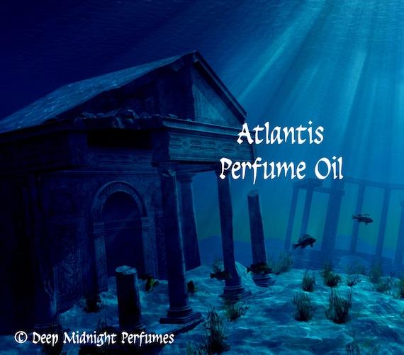ATLANTIS Perfume Oil - Spices, Sandalwood, Aquatic Florals, Musk, Ozone, Dew - Fantasy Perfume