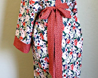 CUSTOM Maternity Hospital Robe - You Choose the Fabric - Robe for the Hospital Nursing Delivery Recovery - by Mommy Moxie on Etsy