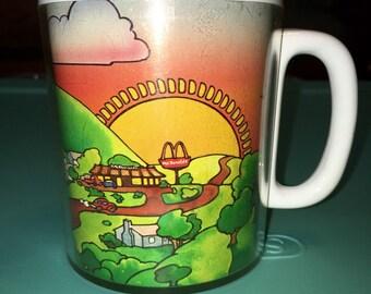 1970's  McDonalds resturaunt advertising Thermo Serv coffee cup mug