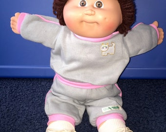 1978 1982 Coleco Cabbage Patch kid   Girl in jogging suit complete