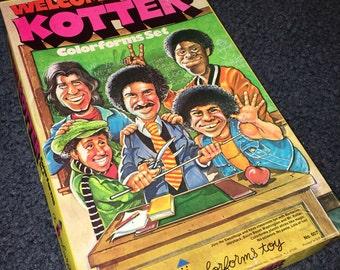 1976 Welcome Back Kotter TV show colorforms play set kit 607