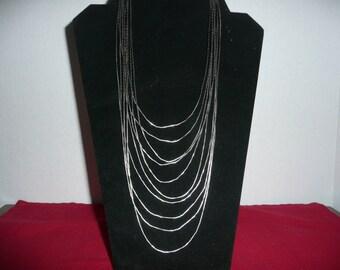 Ten Strand Liquid Silver Bib Necklace