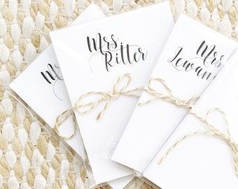 Personalized Calligraphy Script Notepad