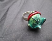 Audrey 2 Little Shop of Horrors Adjustable Silver tone Ring