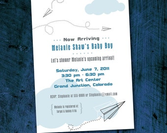 Paper Airplanes Invitations *Digital Download*