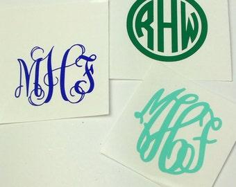 2 inch Monogram Decal, initial decal, initial stickers, small monogram decal, Monogram for phone, vinyl monogram decal
