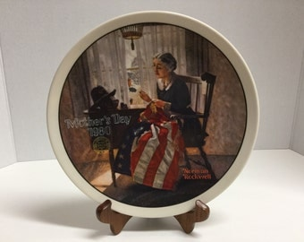 Vintage Norman Rockwell Mother's Day Plate Decorative Plate Display Plate Mother's Day 1980's