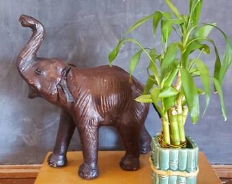 Vintage Bamboo Pottery Vase/Planter