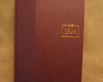 Unfinished book safe - James A. Michener's Recessional - machine cut stash box craft supply hollow book