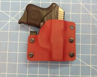 Blood Red and Gray Kydex Retention Holster for Rugar LCP 380