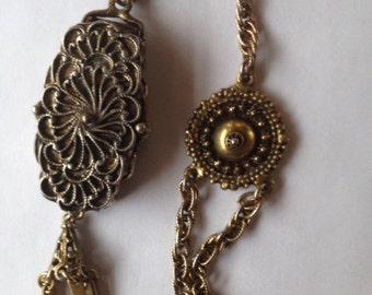 Sale Vintage Hollycraft Locket Pendant Necklace