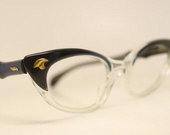 Blue Fade cat eye eyeglasses  vintage cat eye glasses frames Cateye frames