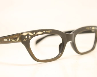 Vintage Eyewear Brown Cat Eye Glasses Unused Cat Eye Eyeglasses